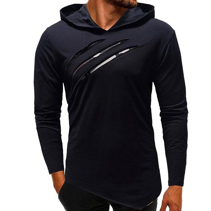 Sudaderas Hombre con Capucha,Camisetas Hombre,👔Blusa Camisa de Manga Larga con Capucha