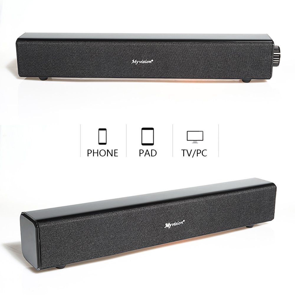 Sound Bar,20W Wireless Bluetooth Computer Speaker, Soundbar Speaker for TV PC Cellphone Tablets Desktop Laptop by Lina (Image #2)