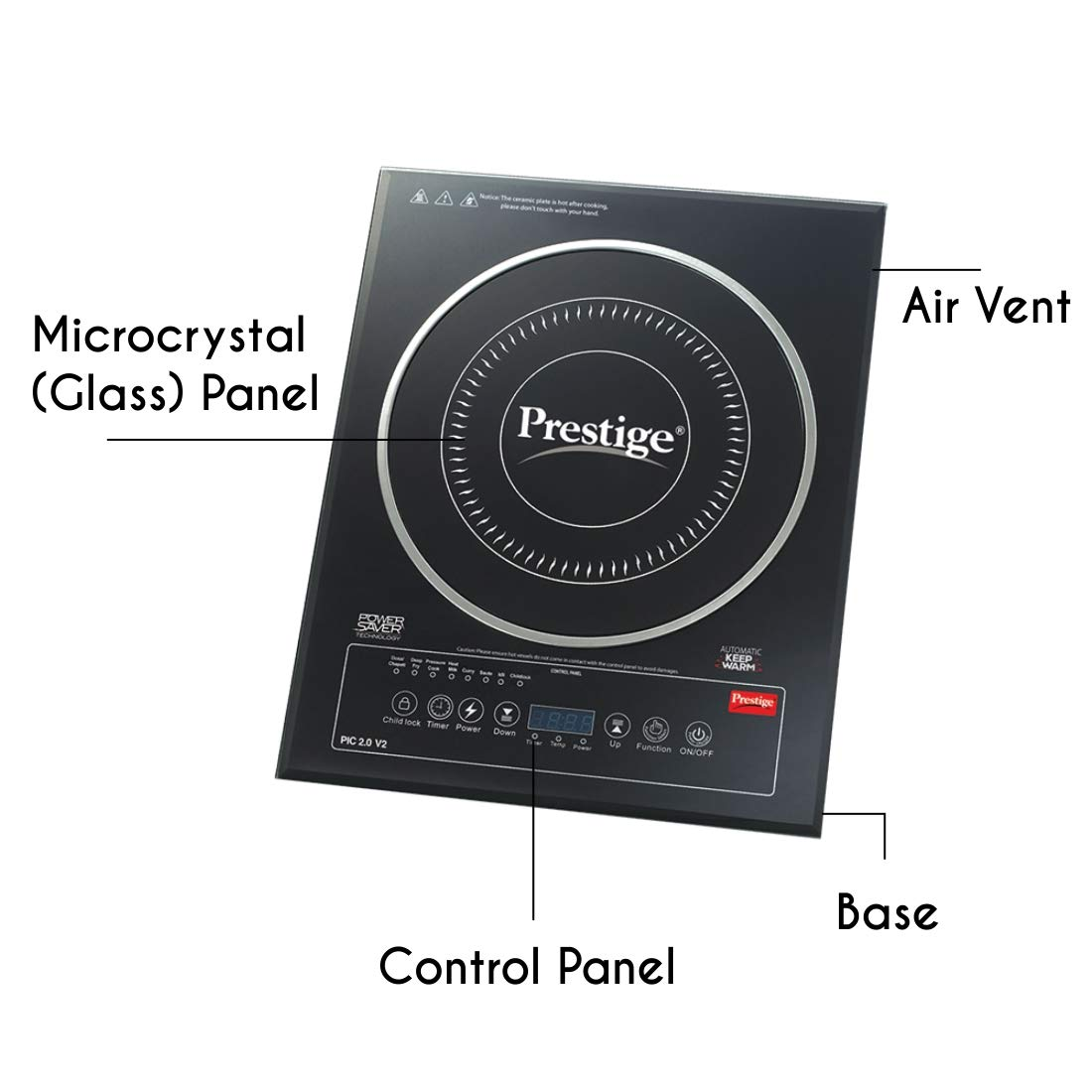 Amazon.com: Prestige Pic 2.0 V2 2000-watt Induction Cooktop ...
