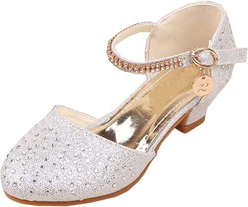 Filles Enfants Demoiselle D/'honneur Princesse Mariage à Talon Mary Jane Chaussures Taille