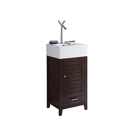 Ronbow Elise 18 Inch Single Bathroom Vanity Set In Vintage Walnut