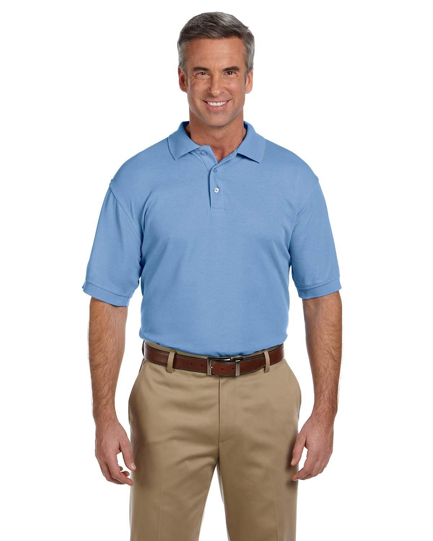 Harritonメンズblend-tek wrinkle-releaseポロシャツ B01H8O2594 XL Light College Blue Light College Blue XL