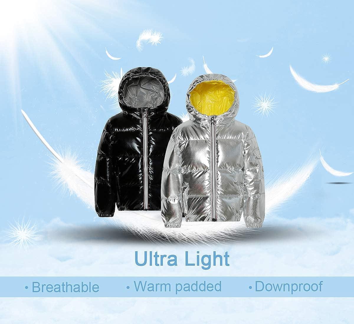 American Trends Boys Kids Winter Hooded Down Coat Puffer Jacket for Girls Kids Lightweight Puffer Jacket