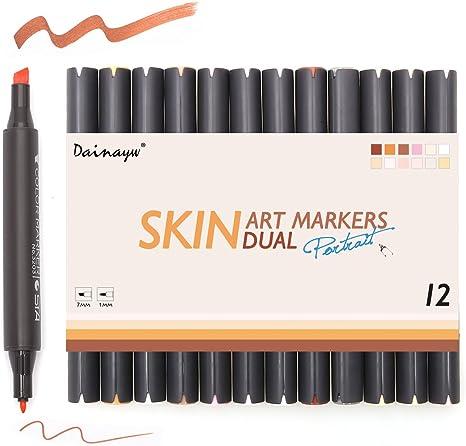 dainayw marcadores de tono de piel, rotuladores de doble punta ...
