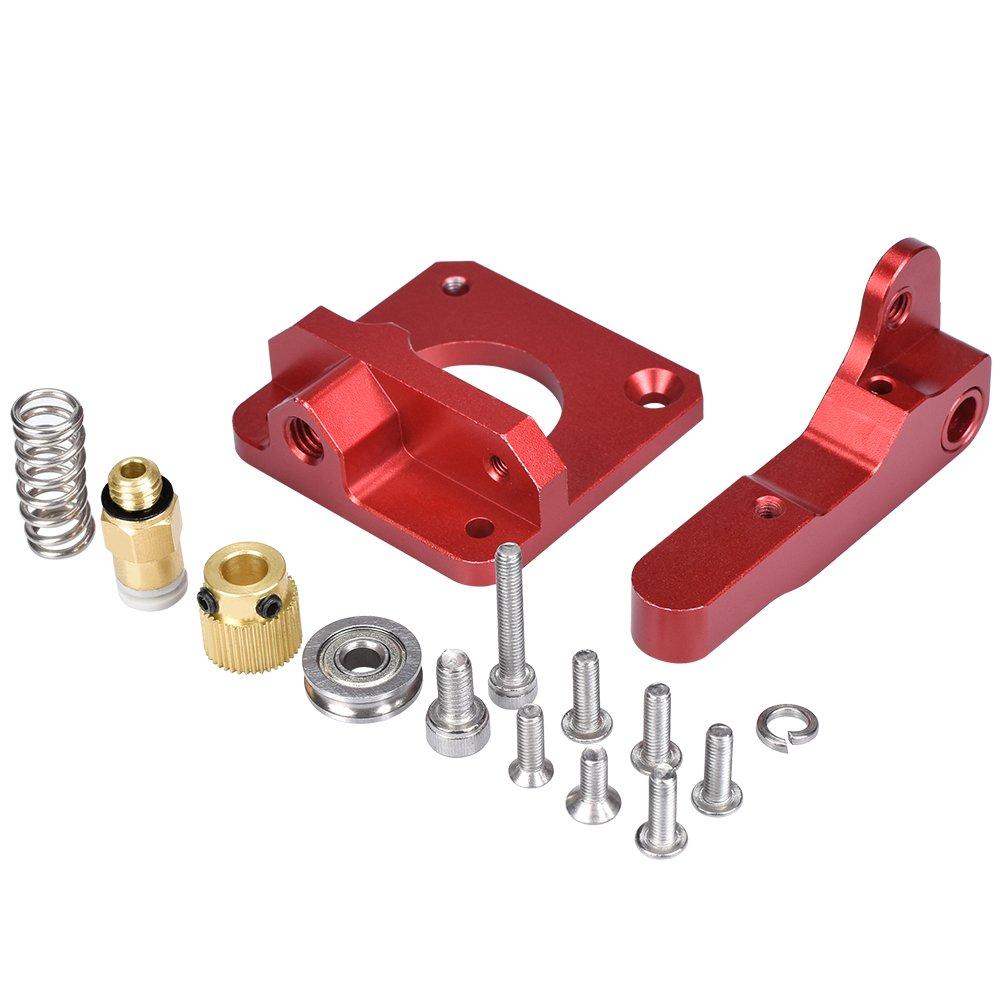 PoPprint MK8 Upgrade Extruder CR-10 Aluminum Alloy Block Bowden Extruder for 1.75mm Filament Gold