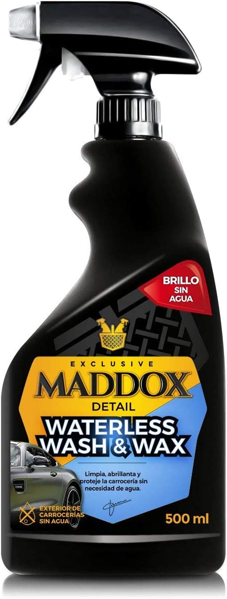 Maddox Detail - Waterless Wash & Wax - Cera Carnauba Limpieza sin Agua para Coches (500ml)