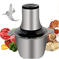 Mini Chopper,800W Electric Food Processor Meat Grinder,3L Stainless Steel 4 Bi-Level Blades,for Baby Food,Meat,Onion…
