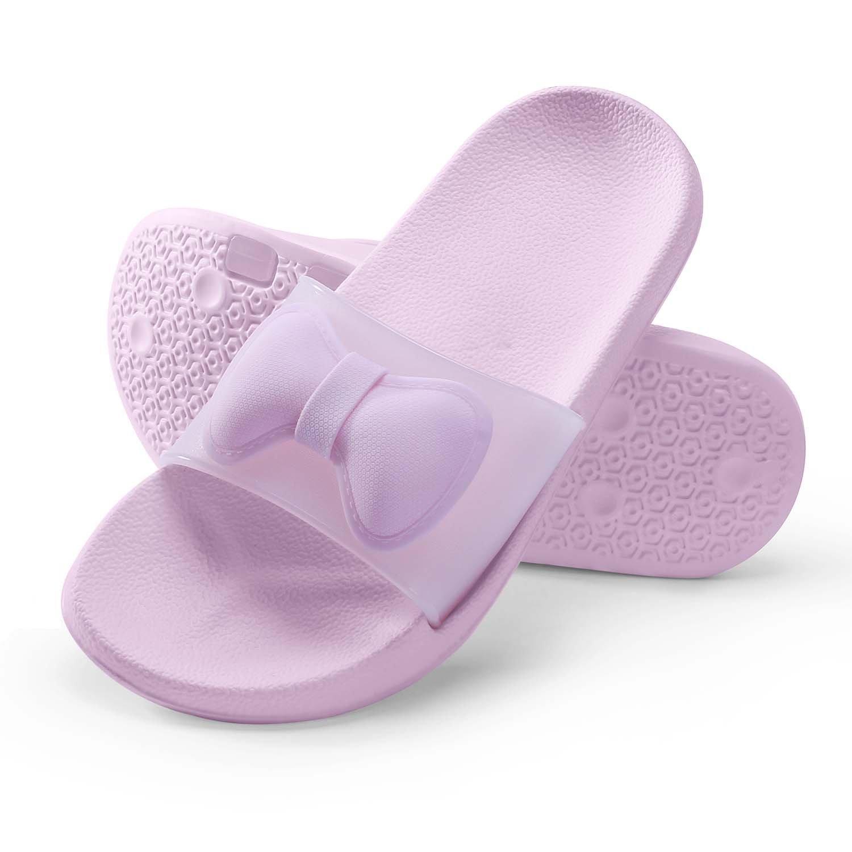 WILLIAM&KATE Colorful Slippers for Women in Summer Casual Anti-Slip Slippers Indoor Floor Slipper Sandal Bath Slipper (7-8B US/38-39, Pink)
