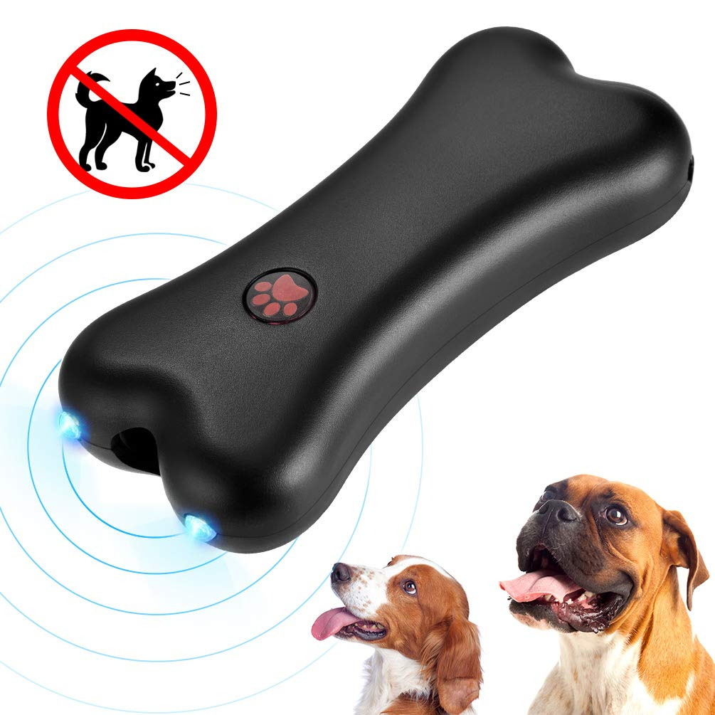 Petacc Anti Barking Device, Ultrasonic Dog Barking Control Deterrent for Dog Walking Training Outdoor, 16ft Control Range Rechargeable Bark Stopper with LED Light by Petacc