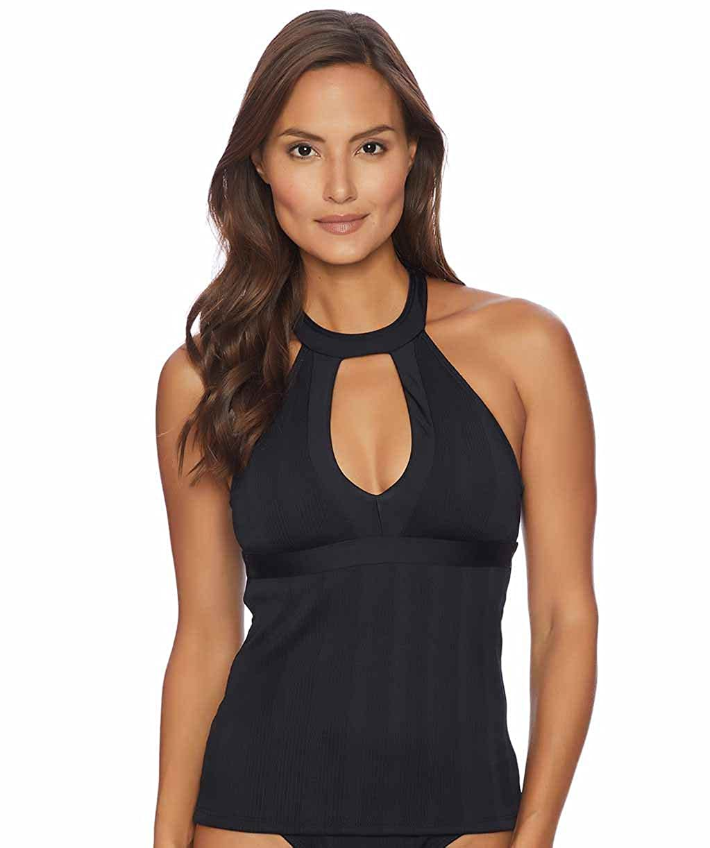Athena Womens Standard Fine Line Halter Swimsuit Tankini Top Athena Women' s Swimwear AT16298