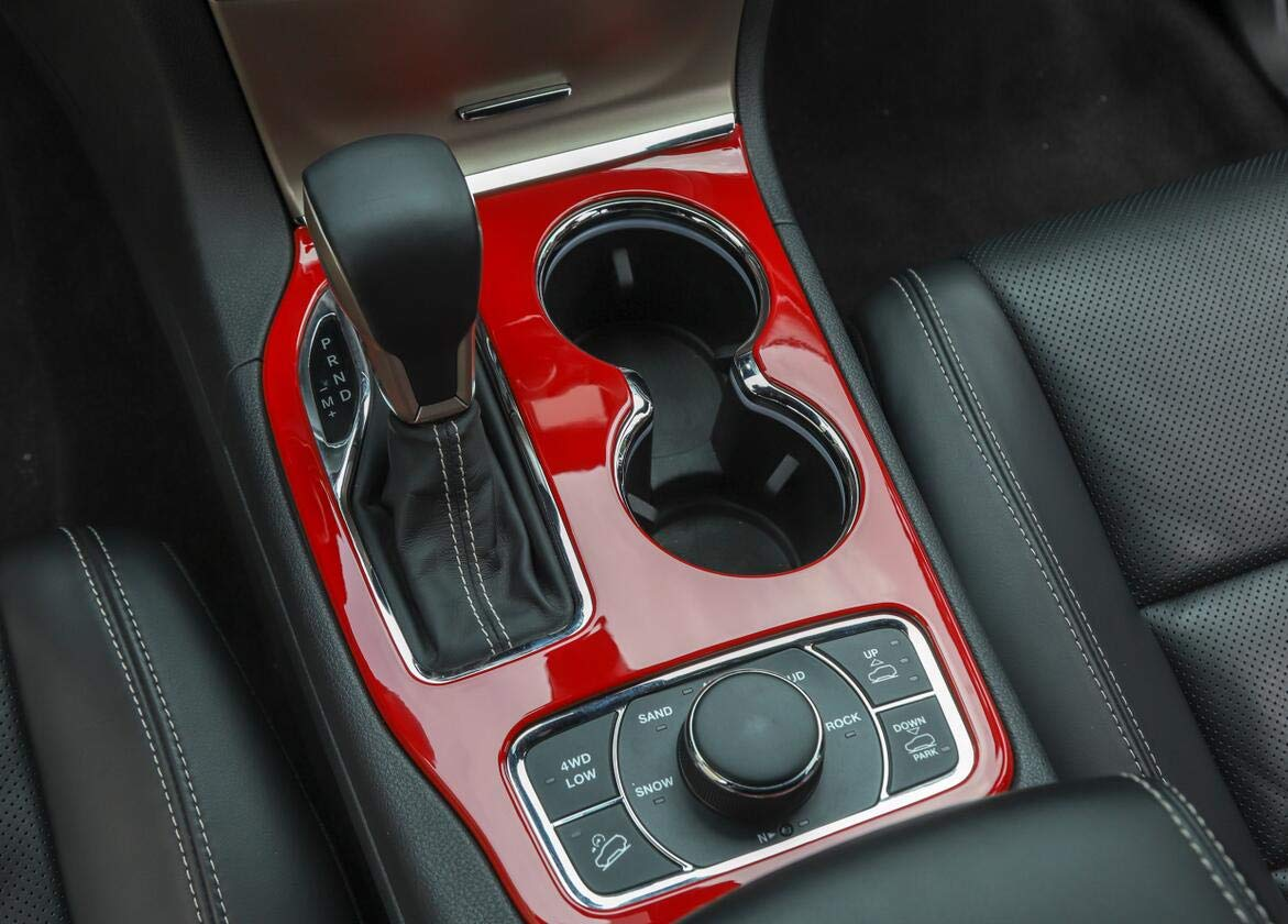 Carbon Fiber FMtoppeak 3Colors Car Gear Shift Panel Trim Cover ABS for Jeep Grand Cherokee 2017 Up