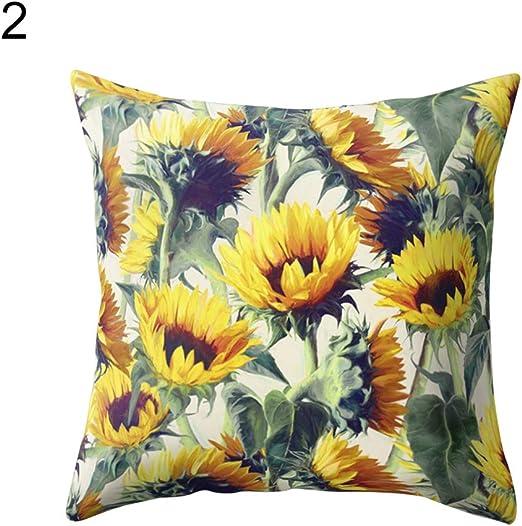 Print Folwer Sofa Car Home Decor Pillow Covers Throw Pillowcase Home Décor