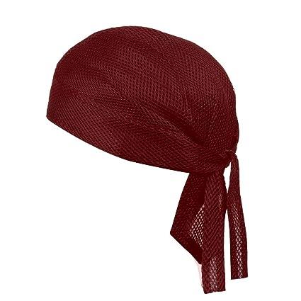 Skull Cap Bandana Head Wrap Breathable Helmet Liner Sweat Wicking Beanie Hat US