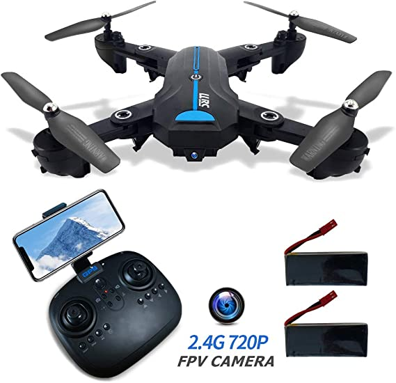 40Mins Foldable GPS FPV Drone with 720P HD Camera for Beginners 2.4G RC Drone with GPS Return Home 120° Wide-Angle Camera WiFi Live Video 4K Mini Drone RC Quadcotper for Kids Adults Long Flight Time