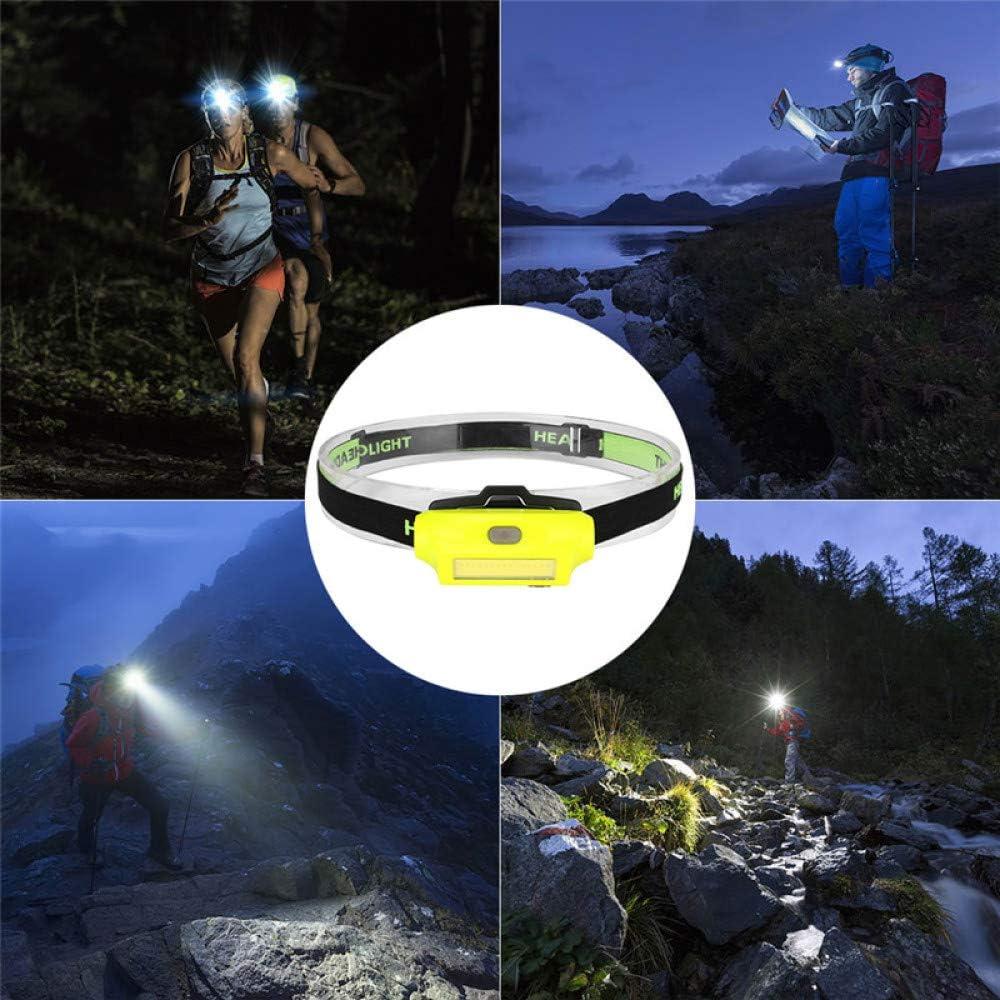 FGBFDG 2 Modos Cabeza De Linterna COB LED Faros LED Carga USB Bater/ía Incorporada 3800 L/úmenes Faros L/ámpara Port/átil