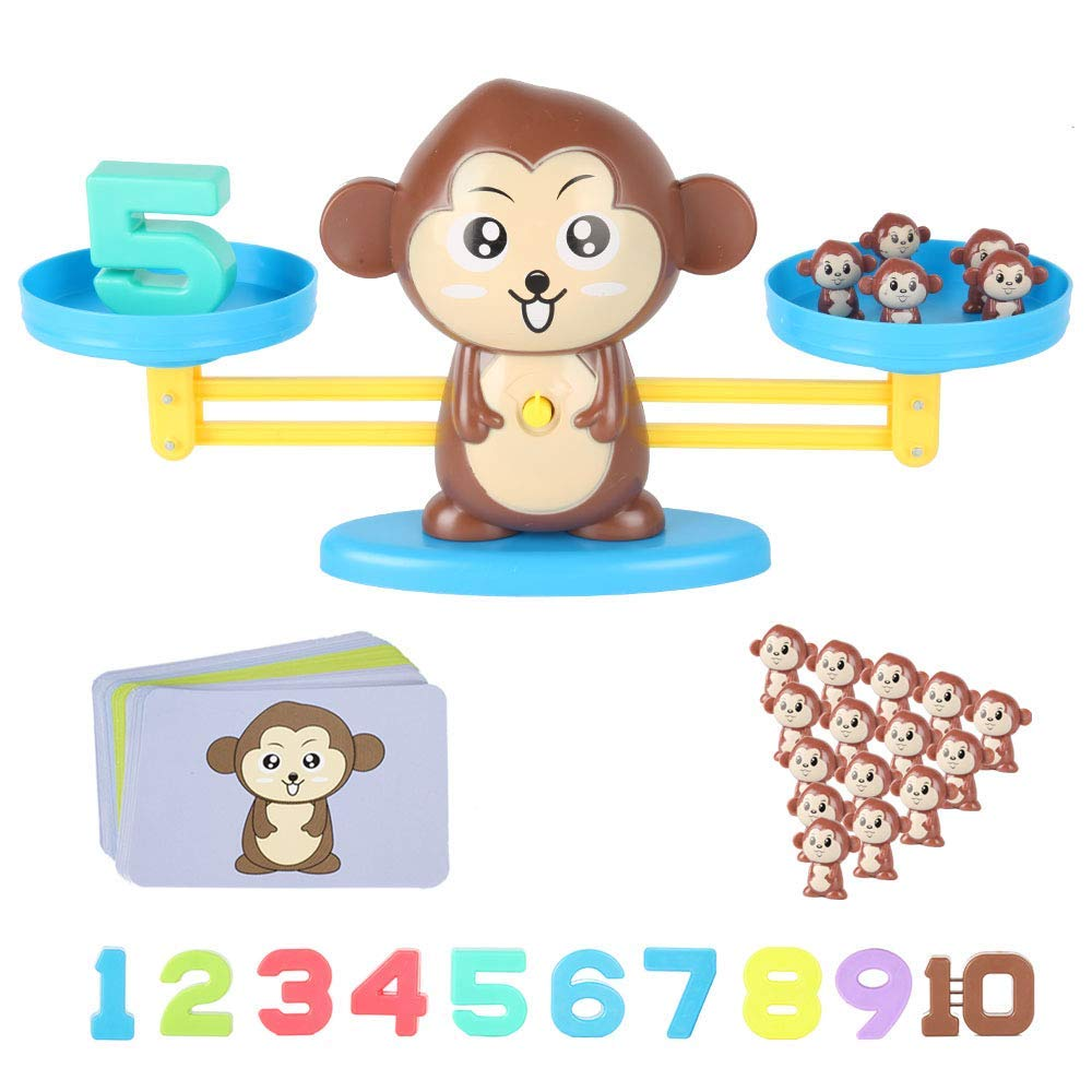 Counting Toys ,Animal Toys Monkey Weighing Scale