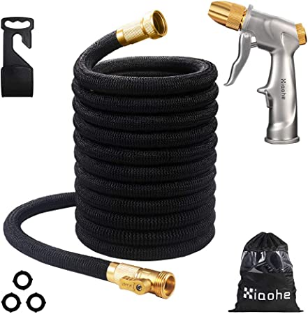High Toughness 3750D Layers Latex Water Hose 4 Expandable Garden Hose 50FT