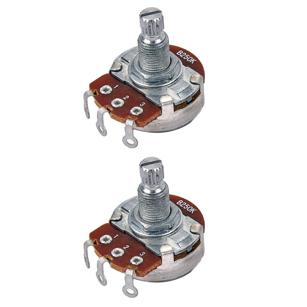2 Pieces B250K Audio Volume Tone Pot For Musical Lovers 1.22x1.14x0.94inch