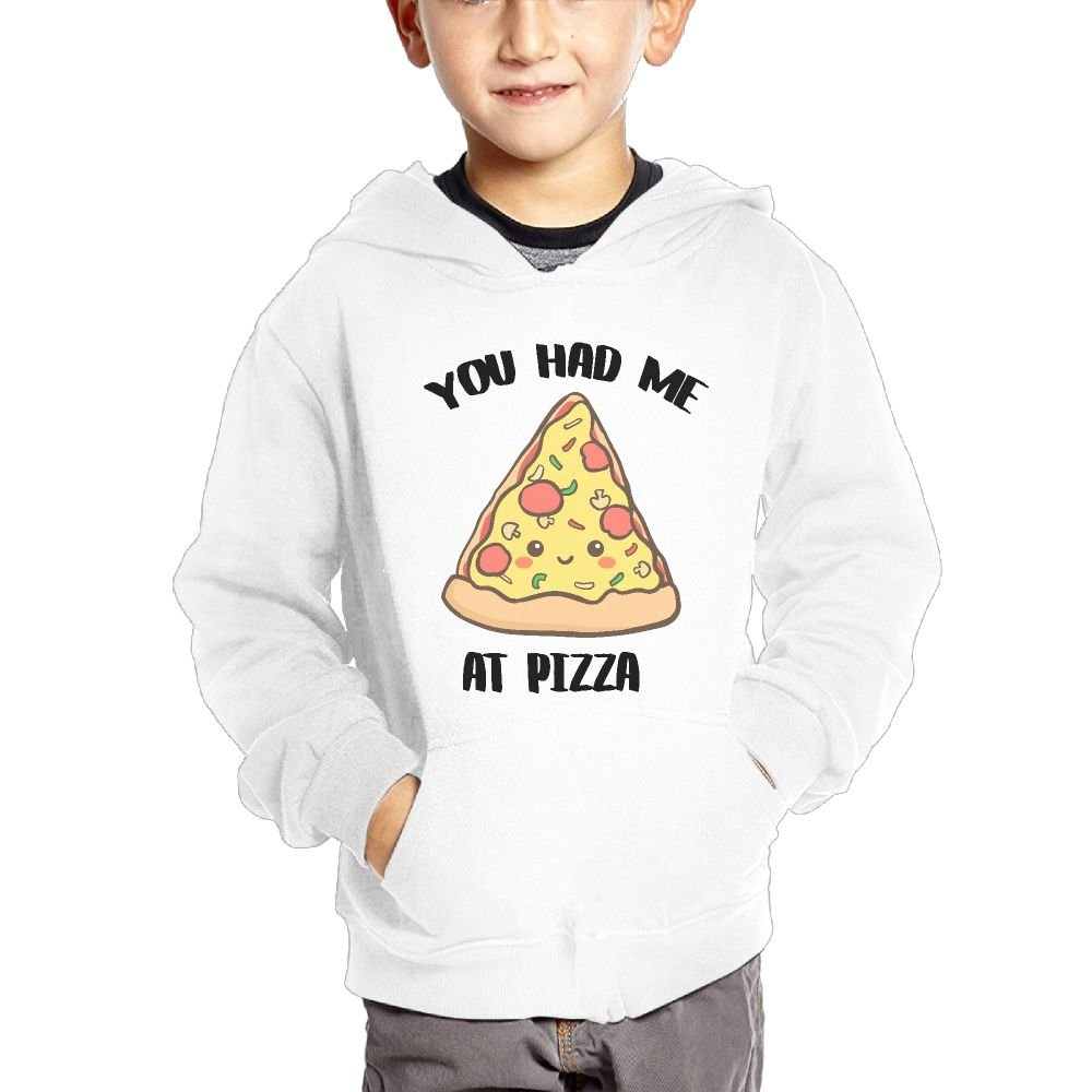 JIANGSHAN You Had Me at Pizza Fashion Hooded Pocket Sweater for Children Spring//Autumn//Winter Outfit Long-Sleeved Hoodie