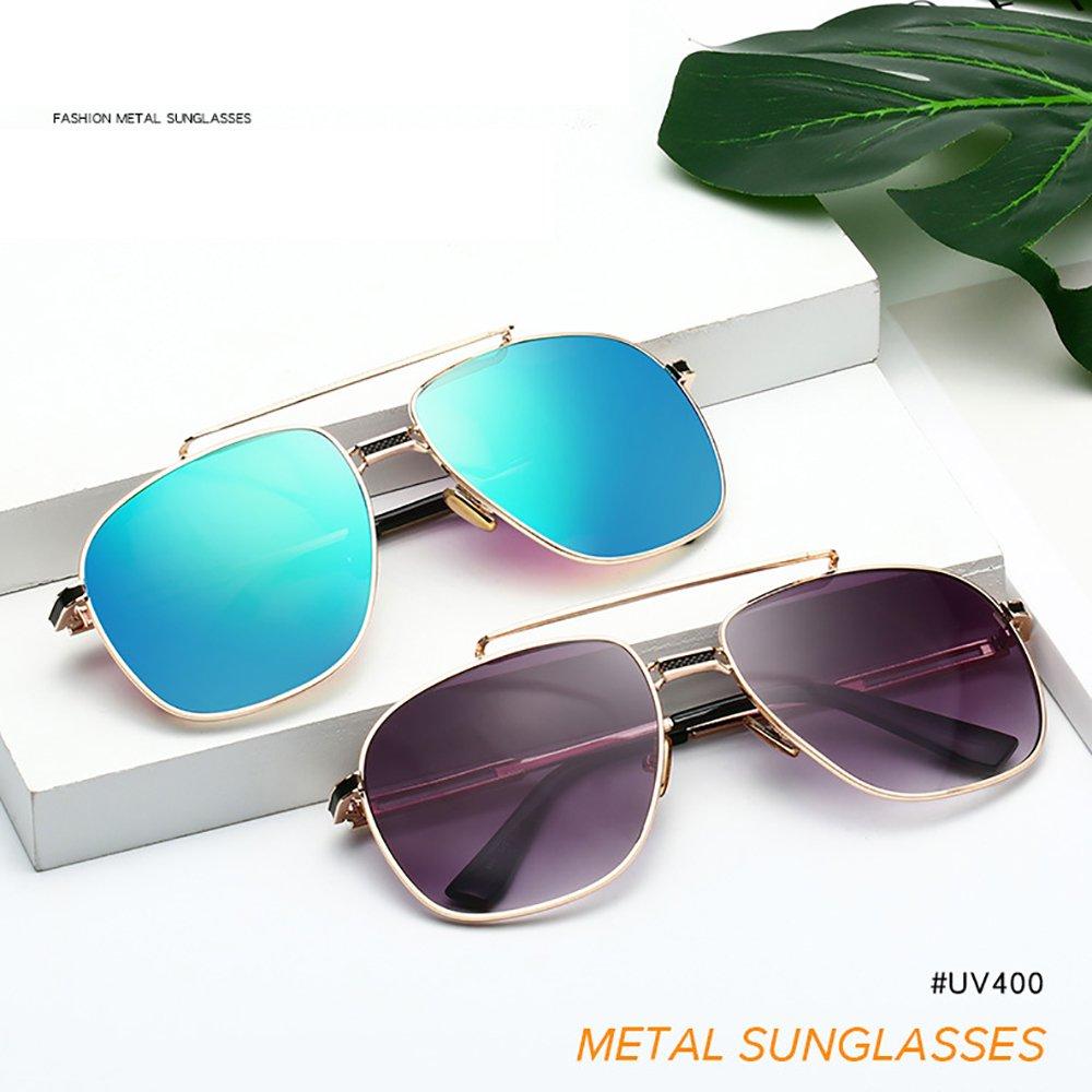 38cfd8039ae Retro Sunglasses Aviator Men Square Sunglasses Metal Frame For Women Men  Mirror Lens SHEEN KELLY A506
