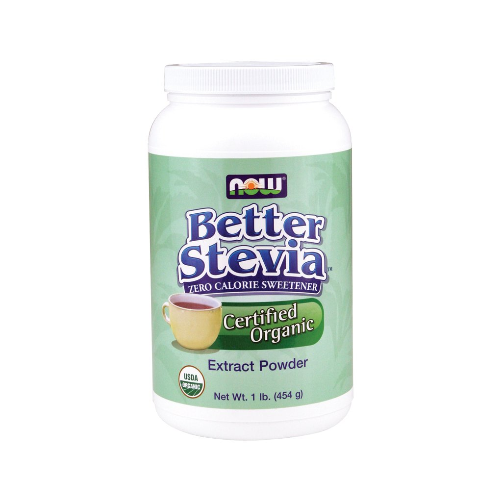 Now Foods - Organic Better Stevia, Extract Powder, 1 lb (454 g)