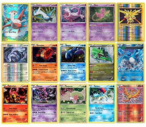 15 Pokemon Cards - Legendary Rare Lot + Pokeball & Random Bonus