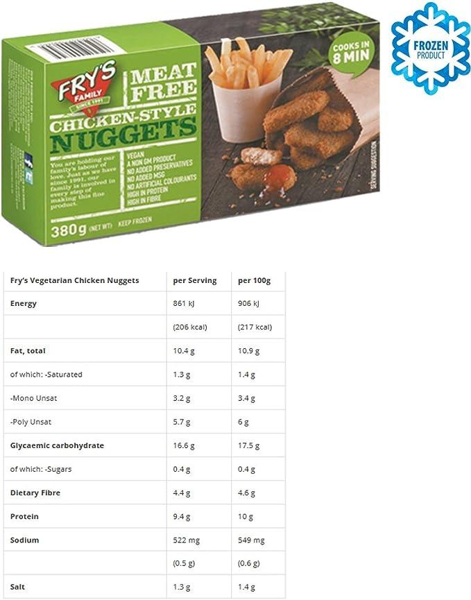 FRYS FAMILY FOODS HAMBURGUESAS & NUGGETS VEGANO PACK DE 2 ...