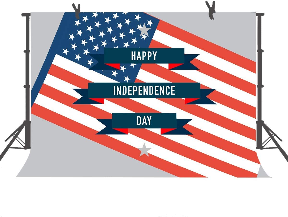 10x8ft Independence Day Flag Photography Backdrop Studio Photo Props HXFU119