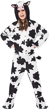 Halloweenia – Disfraz de niño Chica Niños Vaca de Peluche Ternero ...
