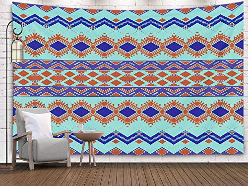 (Shorping Art Tapestries, 80x60Inches Hanging Wall Tapestry for Décor Living Room Dorm Drawn Aztec Background Aztec Pattern Abstract Wallpaper with Ethnic Ornament Style Print Design)