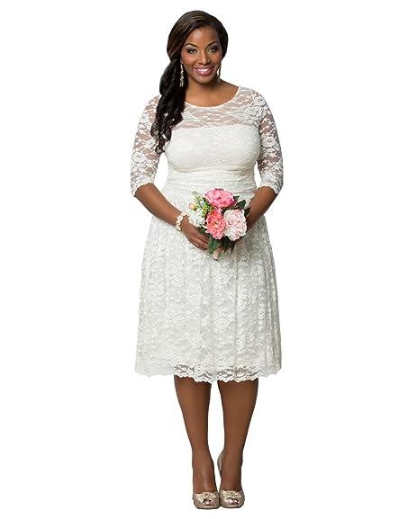 Kiyonna Women\'s Plus Size Aurora Lace Wedding Dress at Amazon ...