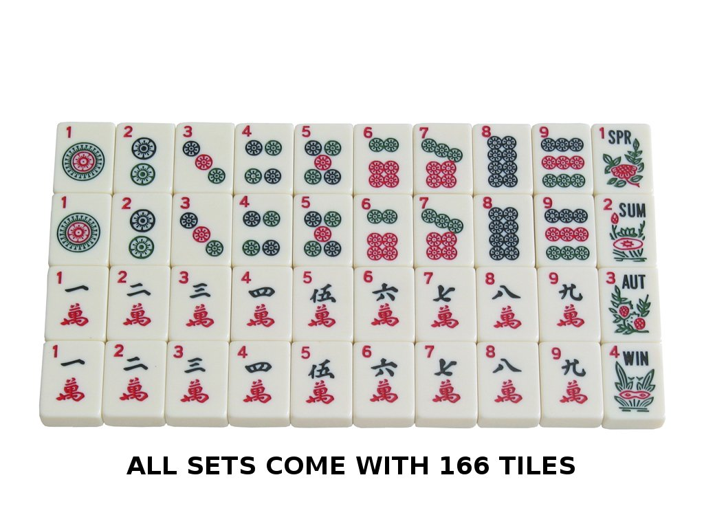 American Mah Jongg Set - 166 Premium Ivory Tiles, 4 All-In-One Rack/Pushers, Black Canvas Bag by American-Wholesaler Inc. (Image #4)