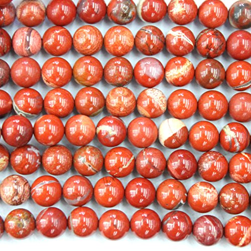 (Natural Red Jasper Round 2mm 3mm 4mm 8mm for Necklace Gemstone Loose Beads (4mm))
