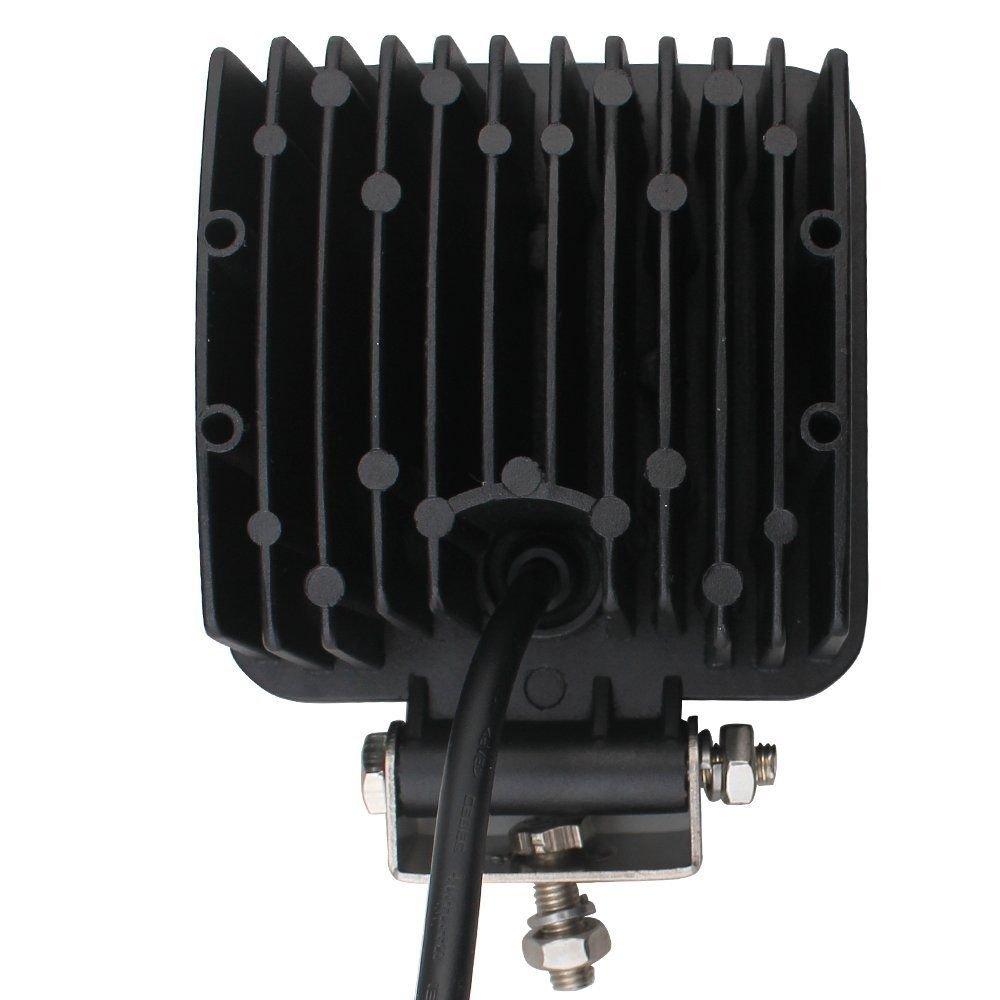 MCTECH 4 X 48W LED cuadrada campo a trav/és luz de inundaci/ón del reflector de la luz de los faros de trabajo de SUV UTV ATV faros de trabajo adicionales l/ámparas de campo a trav/és de la linterna 12V 24V luz de marcha atr/á