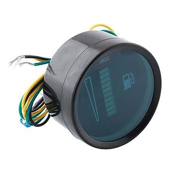 "KIICN 2""52mm Universal Car Motos Medidor de nivel de combustible Indicador de luz LED"