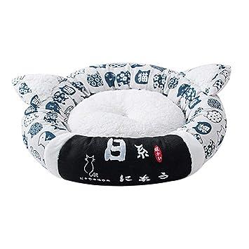 AIHOME Perros Cojín de Gato Suave Redondo Mascotas Cama Gato Techo Perros Dormir Espacio Colchón Perros y Gatos Colchón para Perros Gatos 45 cm/55 cm: ...