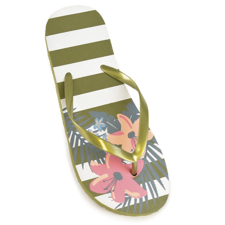 DINZIO Dames Bloem Print Flip Flops