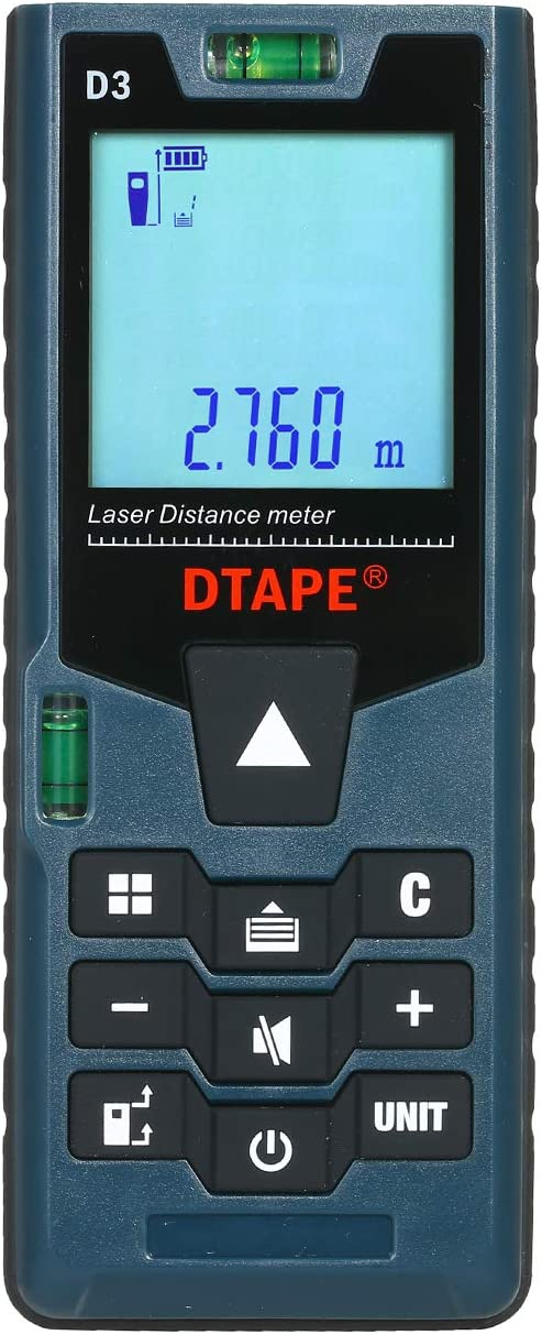 Blue Handheld 40M Laser Distance Meter Range Finder Measure Diastimeter