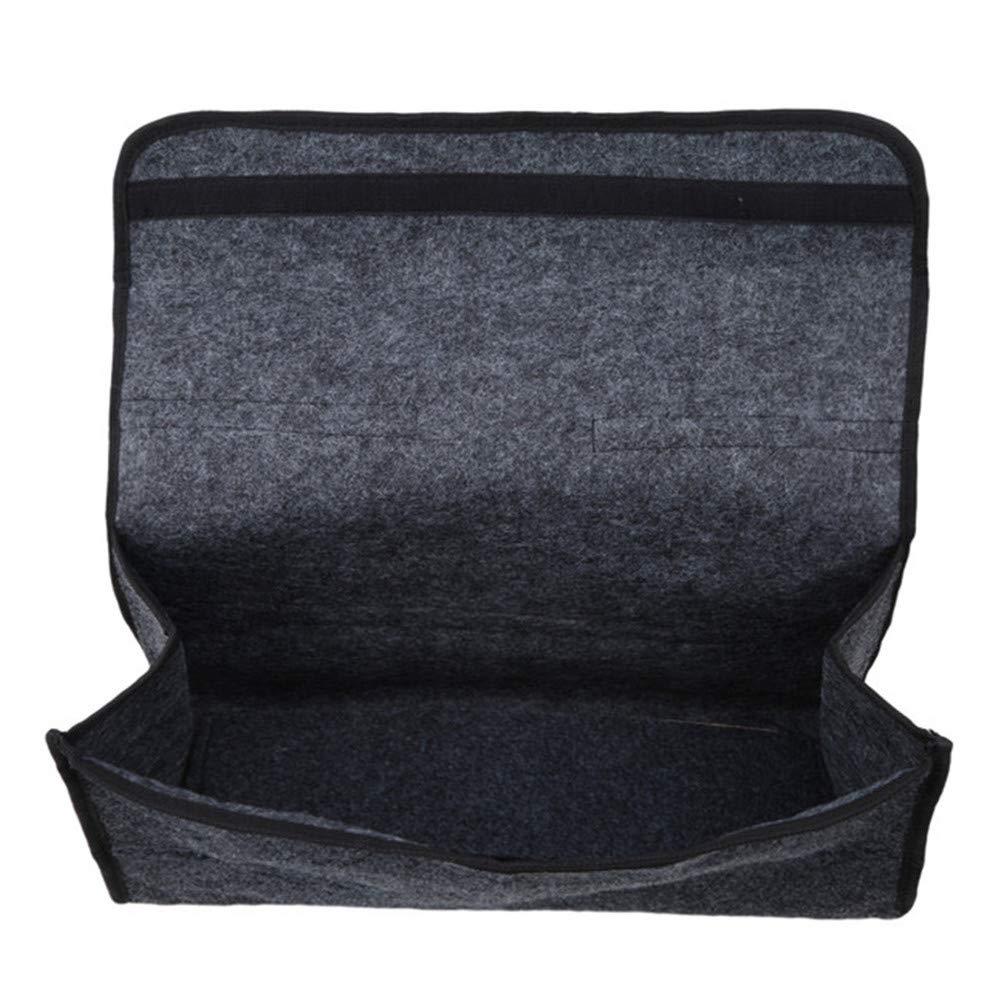 JOMSK Gro/ße Anti Slip Kofferraum Boot Speicherorganisator Fall Werkzeugtasche Faltbare Filz Tuch Kofferraum Ordentlich Aufbewahrungsbox Einkaufen Reise Ordentlich Organizer Halter