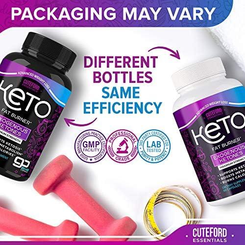 BHB Keto Pills - Keto BHB Capsules for Weight Loss - Keto Fit Pills Made in USA - BHB Exogenous Ketones Supplement for Ketogenic Diet - Keto Advanced Weight Loss 3000 mg - Keto Fast Diet Pills 6