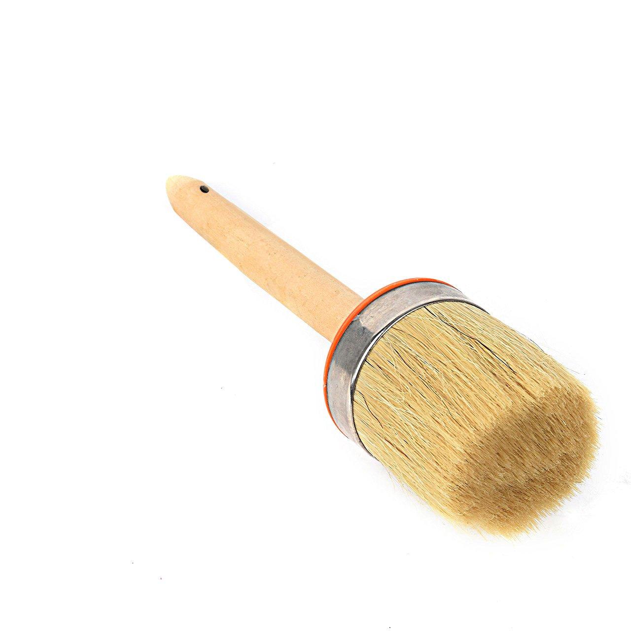 Newcomdigi Runde Lack Pinsel aus super weiche Schwein Haaren und Holz Natü rliche Borsten mit 7cm Durchmesser