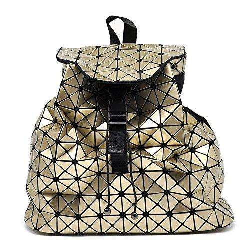 Sconosciuto - Bolso mochila  de pvc para mujer negro negro dorado