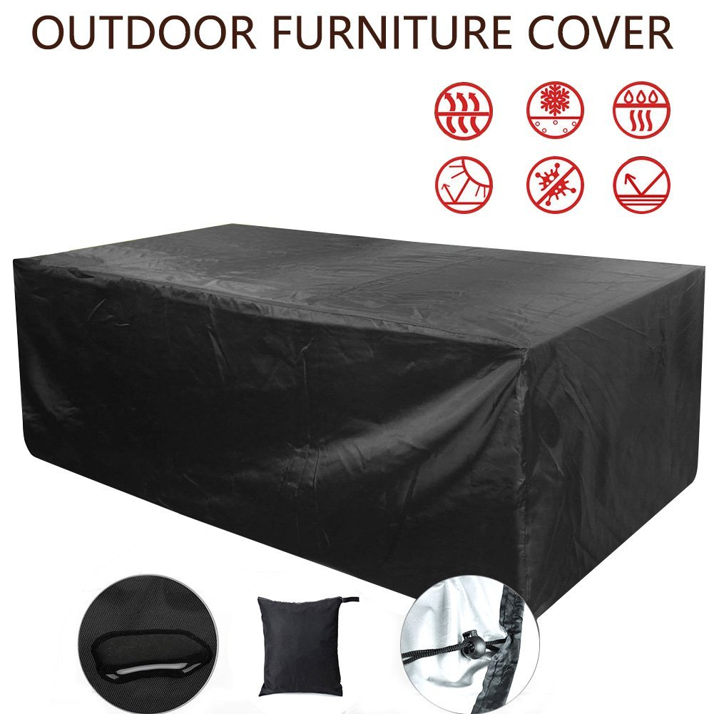 77A Rectangular Patio Furniture Cover 98 x 98 x 35 Inch Outdoor Furniture Lounge Porch Sofa Waterproof Dust Proof Protective by (98 x 98 x 35inch)