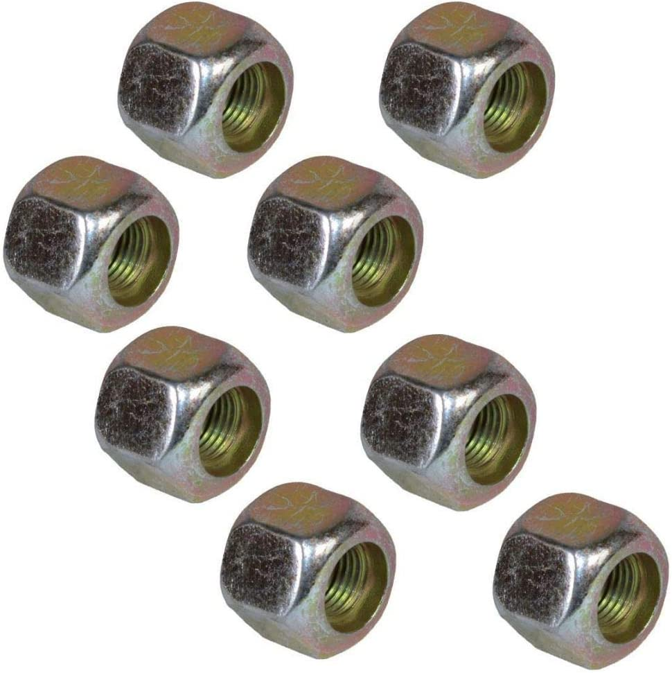 Pack of 16 3//8 UNF Conical Wheel Nuts Nut for Trailer Suspension Hubs Trailers