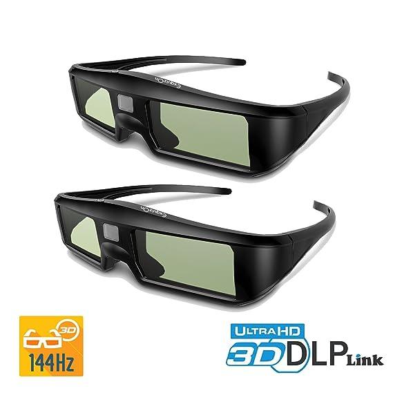a0fac5603c ExquizOn 2 Packs Ultra-Clear HD 96-144Hz DLP LINK 3D  Amazon.co.uk   Electronics