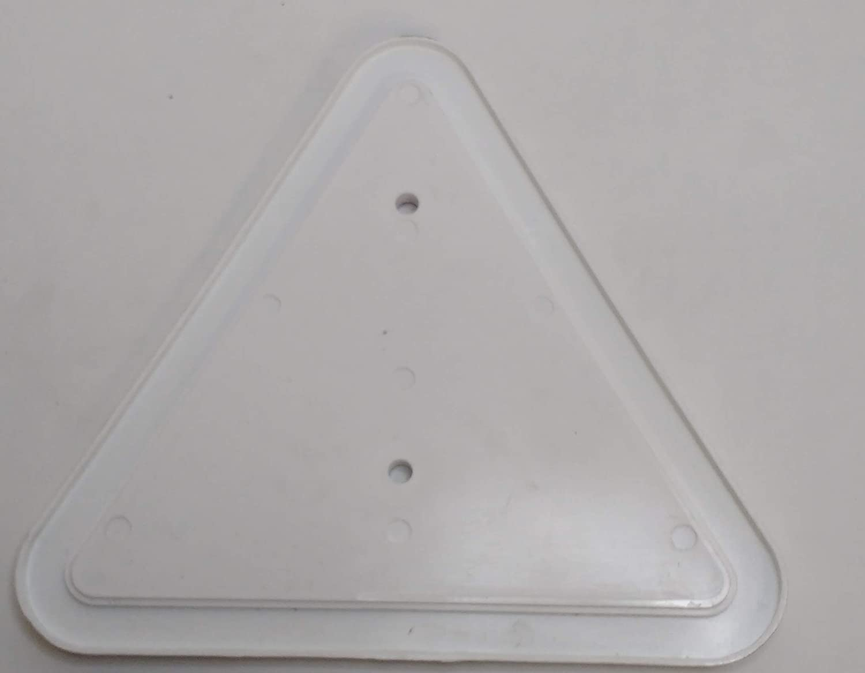 2x RED TRIANGLE REFLECTOR SCREW FIT LORRY TRAILER CARAVAN HORSEBOX MP18B MAYPOLE