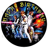 7.5 Inch Edible Cake Toppers – Star Wars Themed Birthday Party Collection of Edible Cake Decorations