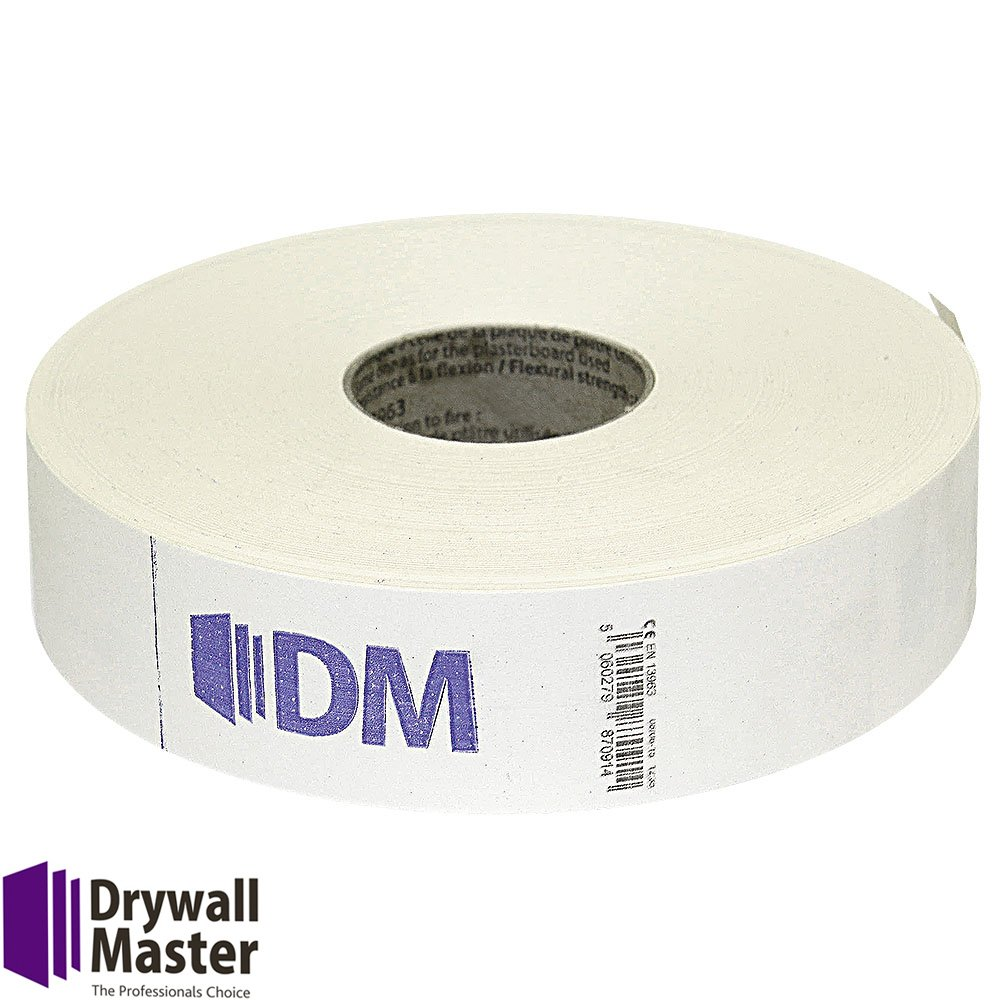 Drywall Master Plasterboard Paper Joint Tape DM50150F 50mmx150m 140g (Pack of 1)