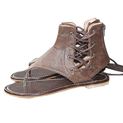 Meedot Sommer Damen Schuhe Zehentrenner Sandalen Sommer Schuhe Flach Outdoorschuhe Freizeitschuhe Sommerschuhe Grau 41 Sl3ZXf8wX
