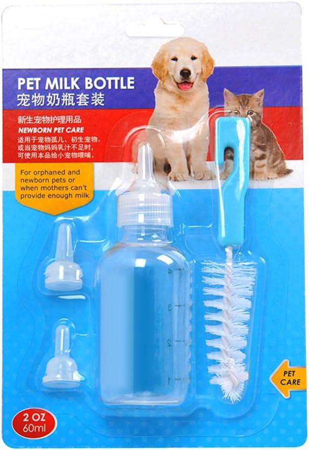 Pet Nursing Milk Bottle 2 oz Brush Kit Newborn Orphaned Animals 60 ml